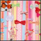 Ribbon on canvas for bows