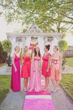 pretty shades of pink // photo by Jacquelyne Mae Photography // View more: http://ruffledblog.com/bridal-shower-luncheon-inspiration/