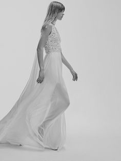 Look 3 | Photography: Courtesy of Elie Saab. Read More:  http://www.insideweddings.com/news/fashion/contemporary-styles-from-elie-saab-bridal-spring-2017/2962/