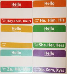 A handy sticker that tells the world your name and pronouns. Comes in five varieties: he/him/his, she/her/hers, they/them/theirs, xe/xem/xyrs, and ze/hir/hirs! Whether being used when meeting new people or as a gentle reminder to old friends, this sticker uses a familiar format to communicate the...