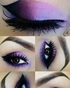 - eye make up - Eye Makeup Prom Eye Makeup, Purple Eye Makeup, Purple Eyeshadow, Eyeshadow Looks, Eyeshadow Makeup, Wedding Makeup, Gothic Eye Makeup, Dramatic Eyeshadow, Makeup Cosmetics