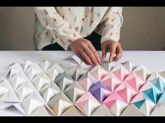 DIY Origami Wall Display   Design*Sponge