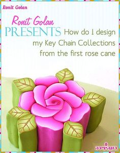 Ronit Golan - Polymer Clay Joy - Inspire to Create: It all began with a pink rose - Pink Rose Cane before outside it put on Polymer Clay Canes, Polymer Clay Flowers, Fimo Clay, Polymer Clay Creations, Polymer Clay Jewelry, Polymer Beads, One Rose, Clay Tutorials, Clay Crafts