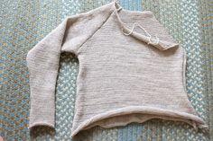 working on my first machine knit sweater
