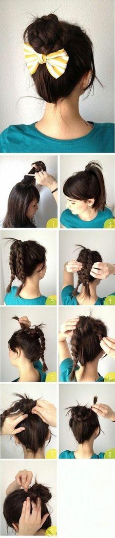Elegant Braided Bun Hairstyles For Long Hair
