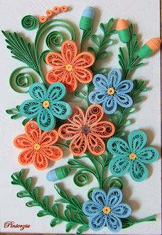how to make quilling flowers step by step