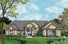 Home Plan HOMEPW13177 - 2660 Square Foot, 4 Bedroom 3 Bathroom Mediterranean Home with 2 Garage Bays | Homeplans.com
