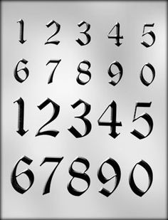 fancy number fonts - Google Search