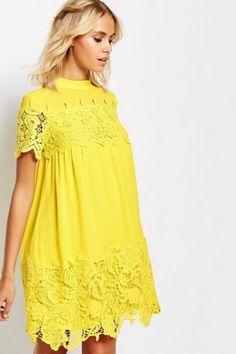 Shop Fashion Union Smock Dress With Lace Inserts at ASOS. Asos Fashion, Womens Fashion, Lace Insert, Lovely Dresses, Lace Dresses, Smock Dress, Mode Style, Wedding Attire, Latest Fashion Clothes