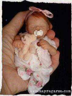 """6"""" hand sculpted doll. www.mayragarza.com"""
