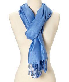 Love this Medium Blue Cashmere-Silk Blend Scarf on #zulily! #zulilyfinds