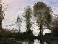 photo 780 Jean-Baptiste-Camille Corot - 855 Edge of a Lake Souvenir of Italy-1855_zpsf3zodss9.jpg