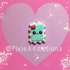 Kawaii Love Stamp Polymer Clay Charm