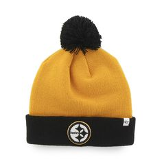 sale retailer e64e6 27b1a Pittsburgh Steelers Bounder Cuff Knit Gold 47 Brand Hat