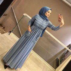 Image may contain: 1 person, standing Hijab Style Dress, Modest Fashion Hijab, Abaya Fashion, African Fashion Dresses, Hijab Outfit, Fashion Outfits, Muslim Women Fashion, Islamic Fashion, Korean Fashion