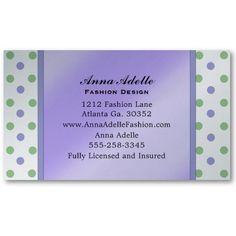 Fashion Polka Dot Business Cards #PolkaDot #BusinessCards