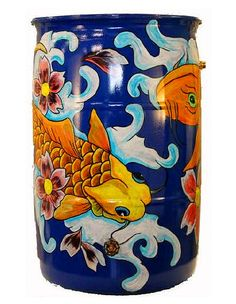 Save water --- use a rain barrel, and paint it too