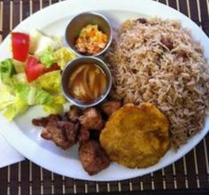 Brown rice, plantain,turkey,veggies