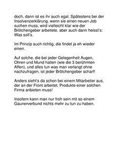 Dreckiger Gauner- und Betrüger(läden)! Neuer Job, Words