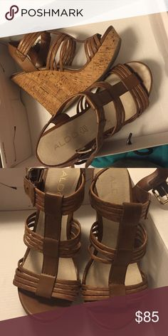 Aldo wedges Good condition, Only worn a few times. No longer have the box. Aldo Shoes Wedges