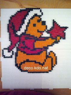 Winnie Christmas hama beads by deco.kdo.nat:
