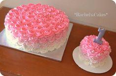 Rosette 1st birthday cake https://www.facebook.com/the.rachels.cakes