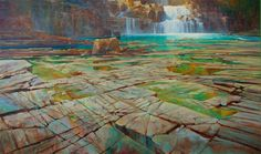 "'Myra Falls - Strathcona Prov Park | 36"" x 60"" 