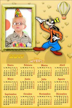 Calendarios para Photoshop: Calendario del 2017 de Goofy para Photoshop (Psd y...