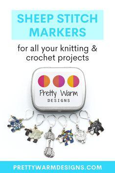 Set of 9 Aqua Blue Splash Knitting Stitch Marker Set SNAG FREE