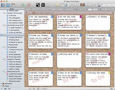 Scrivener Corkboard. A Great Way To Collect And Organise Your Scene Ideas For Your Book.