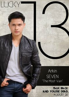 Arkin Del Rosario as Seven Barasque - The Most Vain Lucky 13 Talk Back You're Dead Cast Boys Names All Names Pictures Information Videos Latest News Name Pictures, Funny Pictures, Talking Back, You're Dead, All Names, Gangsters, Local Artists, It Cast, News