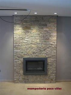 Chimeneas de piedra en pinterest chimeneas de piedra for Hogares modernos a gas