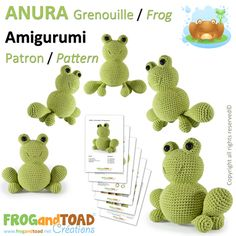 Grenouille Frog par FROGandTOAD Créations © #Amigurumi #Crochet #Patron #Pattern #Grenouille #Frog #Crapaud #Toad