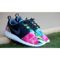 "This is a custom women's pair of the ""Tropical Floral"" Roshe Run done by myself.  The work is hand-stitched, no painting is used.  No shipping outside the US.  Very limited release!"