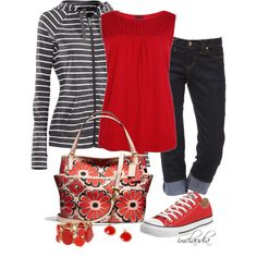 Red Chucks, created by imclaudia-1 on Polyvore