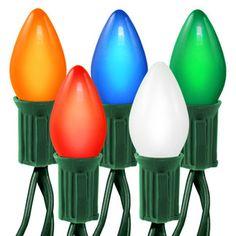 (25) Opaque Multi-Color C7 Lights - String Light