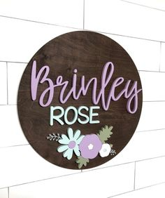 Custom name sign round sign baby name sign nursery room decor wood Color Names Baby, Cute Baby Girl Names, Cute Names, Baby Boy, Baby Names 2018, Baby Twins, Nursery Name, Nursery Signs, Nursery Room Decor