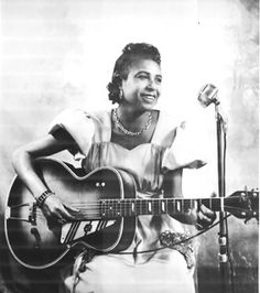 Memphis Minnie - female blues singer and gifted guitarist who held her own against men.