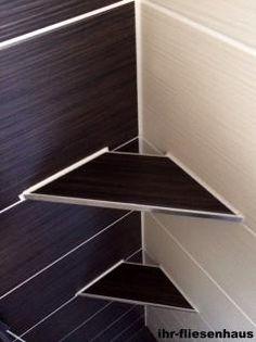 Offene Eckablage für Dusche u. Bad befiesbar für alle gängigen Fliesen Edelstahl - Vorschau 2