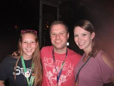 Mandy, Dylan, and I after the show! He remembered that Mandy was the sister that had given me the Crystal Skull ticket!
