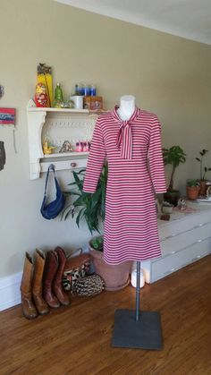 Check out this item in my Etsy shop https://www.etsy.com/listing/225681992/vintage-red-white-and-blue-striped-dress