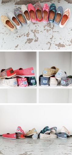 Fun, new spring look, same opportunity to give. Click to shop TOMS new printed Classics.