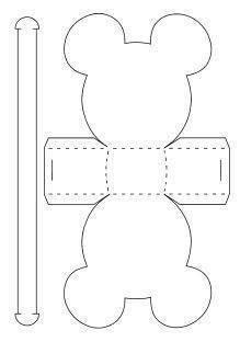 Resultado de imagen para moldes de dulceros mickey em papel
