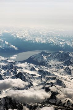 Cook Inlet as you fly into Anchorage, AK
