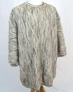 COOGI Australia Basics Sweater 4XT Big & Tall 3D Mercerized Cotton Hip Hop Crew #COOGI #Crewneck