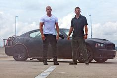 Pin for Later: The Fast and the Furious Nostalgia: Go Back to the Beginning With These Pictures Fast Five (2011) Classic Dom and Brian pose.