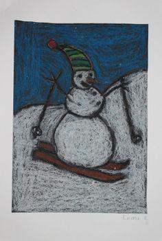 Kunst og handverk med TE: Snømann på ski