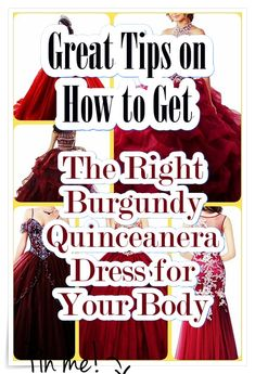 The perfect guide to buying the best Quince dress - Quinceañera Princess Burgundy Quinceanera Dresses, Our Girl, Fashion Show, How To Memorize Things, Internet, Princess, Unique, Beauty, Style
