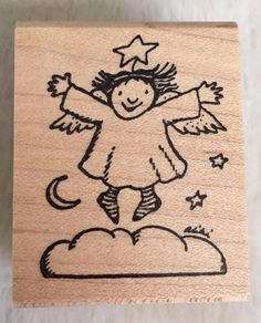 Aliki Christmas Angel Kidstamps Rubber stamp