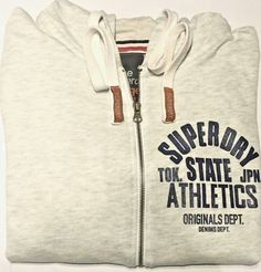 Superdry (stock clearance) with zipper  soft summer hoodie